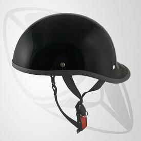 半キャップ/ハーフヘルメット ブラック(bms-27)FRP帽体で軽くて丈夫な内装 ・サイズ 58~59cm(SG規格認定)(25cc以下対応)(Freeサイズ)