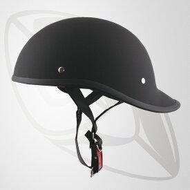 半キャップ ハーフヘルメット マッドブラック(bms-27)SG規格認定 125cc以下対応 Freeサイズ FRP帽体で軽くて丈夫な内装 サイズ 58~59cm