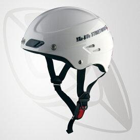 半キャップ/ハーフヘルメット ホワイト(bstr-z)デザイン性を追求 斬新なフォルム (SG規格認定・125cc以下対応・Freeサイズ)