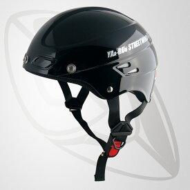 半キャップ/ハーフヘルメット ブラック(bstr-z)デザイン性を追求 斬新なフォルム (SG規格認定・125cc以下対応・Freeサイズ)