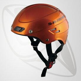 半キャップ/ハーフヘルメット オレンジ(bstr-z)デザイン性を追求 斬新なフォルム (SG規格認定・125cc以下対応・Freeサイズ)