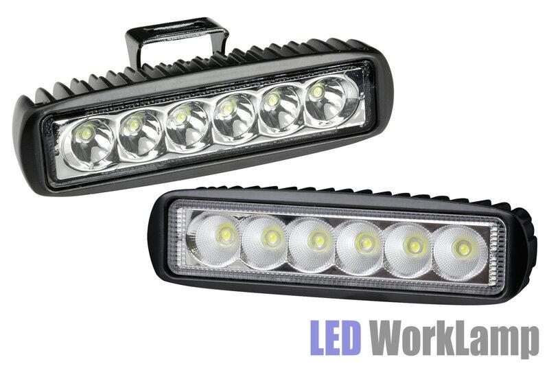 LED ワーク ランプ 高輝度!Osram オスラム製3w LED使用 コンパクト!ミニLEDランプ(フォグランプ ドライビングランプ)デイライト 作業灯 補助灯 アルミ合金ボディー 12V 送料無料