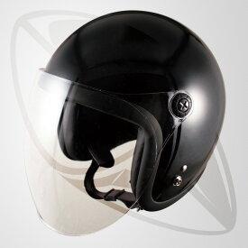 【SG規格認定】【全排気量OK】ジェット型ヘルメット ブラック(黒)(bjl65sr)ジェットヘル
