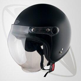 ジェット型ヘルメット マッドブラック(bxx-606) SG規格認定・全排気量OK・XXLサイズ 62-64cm 送料無料(一部地域除く)