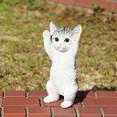 ☆アニマル☆ べニーズキャット QY-73 23cm お手上げの可愛いネコちゃん! おしゃれなオブジェ オーナメント ねこグッズ 猫 インテリア 庭 玄関先 ガーデニング ガーデン 雑貨 ナチュラル雑