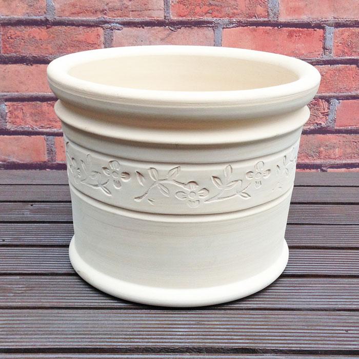 人気のスペイン鉢 テレサ フラワー 25cm テラコッタ 植木鉢 おしゃれ スペイン製 丸みの帯びた可愛らしいテラコッタです 陶器鉢 素焼き鉢 園芸 ガーデニング プランター かわいい