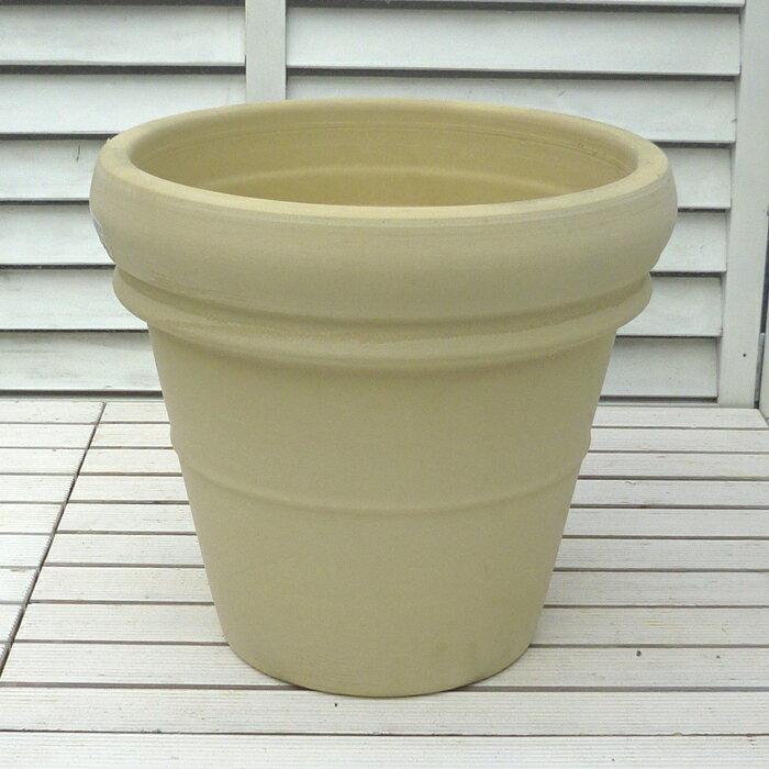 アンティーク リムポット 37cm ホワイトの植木鉢 イタリア製 テラコッタ 素焼き鉢 陶器鉢 園芸 ガーデニング デローマ社 *Italian Terracotta*