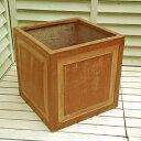 【軽くて移動ラクラク!】 ファイバークレイ 植木鉢 ステップボックス 32cm STF9005 Dブラウン色 10号 四角 アンティ…