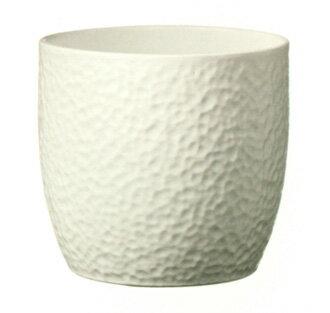 【ドイツ製】 鉢カバー ボストン ホワイト 27cm 8号鉢用 ハイドロカルチャー(水耕栽培)に最適な植木鉢(容器) おしゃれ 陶器鉢 SOENDGEN KERAMIK社製 インテリアに 観葉植物 ガーデニング  【RCP】10P20Sep14