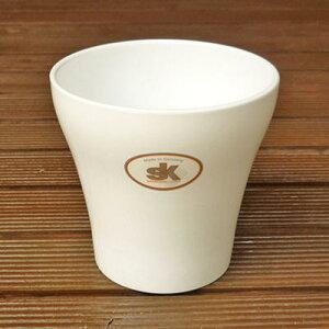 【ハイドロカルチャーに最適な鉢】 ドイツ製 ルッカ ホワイト 11cm 鉢カバーにも(3号鉢用) 植木鉢 おしゃれ 陶器鉢 観葉植物にピッタリ ガーデニング Soendgen KeramiK社製