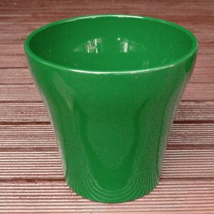 鉢カバー ルッカ エメラルドグリーン 16cm ドイツ製 4.5号鉢用 ハイドロカルチャー(水耕栽培)に最適な植木鉢(容器) おしゃれ 陶器鉢 SOENDGEN KERAMIK社製 インテリアに 観葉植物に