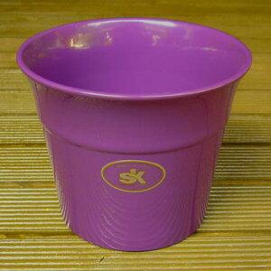 【ドイツ製】 鉢カバー オリンポス パープル 14cm 4号鉢用 ハイドロカルチャー(水耕栽培)に最適な植木鉢(容器) おしゃれ 陶器鉢 SOENDGEN KERAMIK社製 インテリアに シクラメンやミニバラに