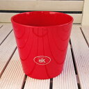 ☆残り僅か☆ シクラメンに ポットカバー 鉢カバー ドイツ ダラス レッド 赤 14cm 4号鉢用 ハイドロカルチャー(水耕…