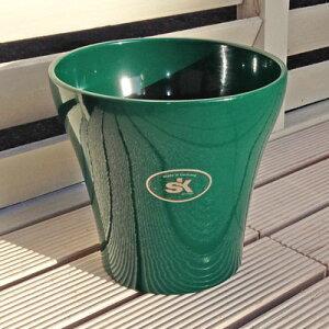 【ドイツ製】 鉢カバー ルッカ エメラルドグリーン 14cm 4号鉢用 ハイドロカルチャー(水耕栽培)に最適な植木鉢(容器) おしゃれ 陶器鉢 SOENDGEN KERAMIK社製 インテリアに 観葉植物にピッタ