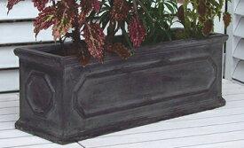 【軽いので移動ラクラク】 植木鉢 フロスト グレー 50cm プランター ファイバークレイ グラスファイバー製 軽くて丈夫です アンティークテラコッタ風 園芸 ガーデニング