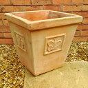 植木鉢 パピヨンポット 30cm NC1357 10号 ワンポイントのチョウが可愛い植木鉢 ヨーロピアンなテラコッタ おしゃれ 陶…