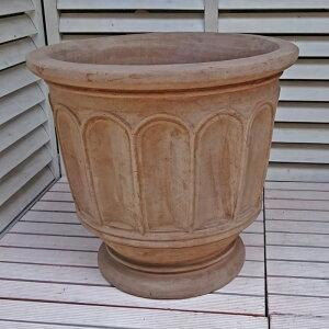 人気のベトナム鉢 フィリー (ショコラ) L47 テラコッタ ヨーロピアン 植木鉢 素焼き鉢 陶器鉢 オリーブ ブルーベリー 園芸 ガーデニング 大型 本場ヨーロッパ風ガーデン おしゃれ プランタ
