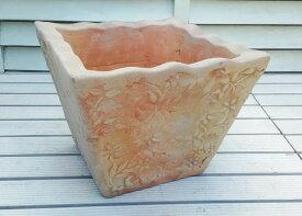 ベトナム鉢 トラッドポット M26 個性豊かな植木鉢 テラコッタ これまでの洋風ガーデンとは一味違った空間を演出します! 陶器鉢 素焼き鉢 四角 園芸 ガーデニング* Vietmanese Terracotta