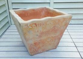ベトナム鉢 トラッドポット L32 10号 個性豊かな植木鉢 テラコッタ これまでの洋風ガーデンとは一味違った空間を演出します! 陶器鉢 素焼き鉢 四角 園芸 ガーデニング* Vietmanese Terracotta