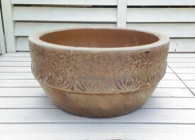 ベトナム鉢 ユーロポット M29 個性豊かな植木鉢 テラコッタ これまでの洋風ガーデンとは一味違った空間を演出します! 陶器鉢 素焼き鉢 浅鉢 園芸 ガーデニング* Vietmanese Terracotta