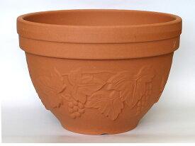 【植木鉢ならガーデン屋】 寄せ植えハーフポット CCG-8 8号 *国産陶器鉢* 植木鉢 国産テラコッタ 園芸 ガーデニング パンジー・ビオラ・ペチュニアなどの花の寄せ植えや葉牡丹に