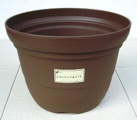 【リッチェル】 カラーバリエ 輪鉢 Cブラウン 12号 シンプルなスタイルの可愛らしいプラスチック鉢です。 プラスティック プラ鉢 プランター 植木鉢 園芸 ガーデニング おしゃれ 大型 ベランダガーデン 【RCP】
