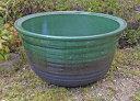 大型 輸入睡蓮鉢 緑豊 17号 グリーン 57cm 水蓮鉢 陶器 和風庭園やビオトープ創りに!ウォーターガーデンには欠かせません