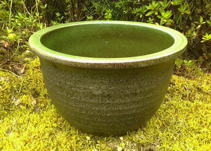 睡蓮鉢 風雅 10号 陶器製 小型睡蓮鉢 ビオトープ創りに!メダカや金魚に最適な睡蓮鉢です! 水生植物 ウォーターガーデン 園芸 ガーデニング