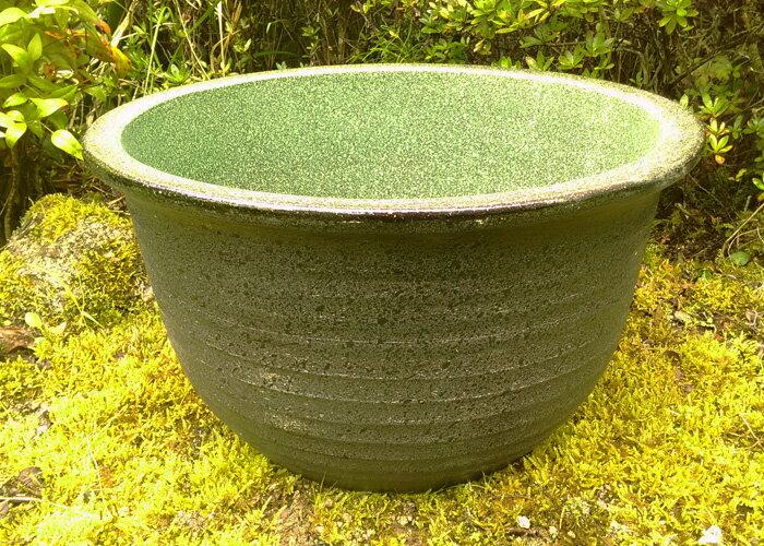 睡蓮鉢 風雅 13号 陶器製 中型睡蓮鉢 ビオトープ創りに!メダカや金魚に最適な睡蓮鉢です! 水生植物 ウォーターガーデン 園芸 ガーデニング 10P03Dec16