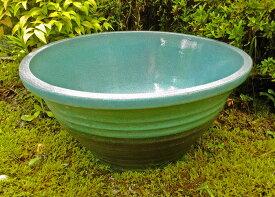 ☆送料無料☆ 大型睡蓮鉢 水蓮鉢 匠 水色 16号 50cm ビオトープ創りに! ウォーターガーデン 水生植物に 陶器