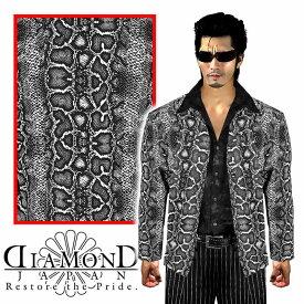 白蛇総柄 シフォンシャツ 服 オラオラ系 悪羅悪羅系 ヤクザ ヤンキー チョイ悪 チョイワル 派手 メンズ ファッション