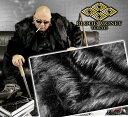 黒:ハーフ丈ファーコート 服 オラオラ系 悪羅悪羅系 ヤクザ ヤンキー チョイ悪 チョイワル 派手 メンズ ファッション