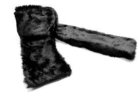 ファーマフラー 黒 オラオラ系 悪羅悪羅系 ヤクザ ヤンキー チョイ悪 チョイワル 派手 メンズ ファッション 冬物