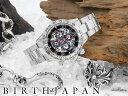 オラオラ系 ヤクザ ヤンキー 1年間保証付 機械式多機能両面スケルトンクロノグラフ腕時計009 黒 自動巻き 防水 腕時計…