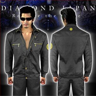 长袖工作服穿邪恶邪恶黑帮洋基罗性恶恶罗男子上妈妈的凤头的衣服 dj-047 黑色性