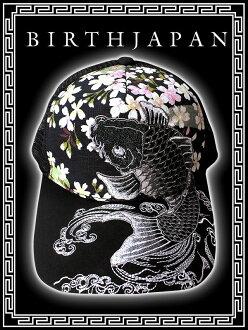 性别的邪恶邪恶 RA 系列黑帮洋基性恶恶罗帽子 068 黑色日本樱花帽与模式波鲤鱼