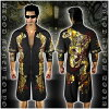 Setup Jersey sex of evil-evil Luo of Yakuza Yankee sex evil-evil Luo men's short-sleeve top and bottom 13016 black x Gold Dragon dress