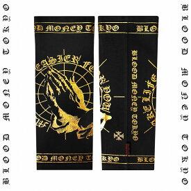 祈り プレイハンズ サポーター:腕用 (1枚入り) 黒×金 オラオラ系 悪羅悪羅系 ヤクザ ヤンキー チョイ悪 チョイワル 派手 メンズ ファッション