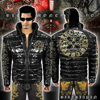 Jacket sex series evil-evil Luo system Yakuza Yankee sex evil-evil-14037 surpass black down jacket winter performance batting jacket cross pattern autumn winter clothes