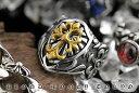 クロスモチーフ コンビカラーリング 指輪 SUS316L ステンレス オラオラ系 悪羅悪羅系 ヤクザ ヤンキー チョイ悪 チョ…