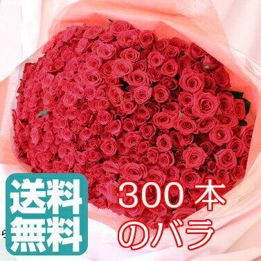 母の日 【送料無料】バラ 300本 花束 バレンタイン ギフト 無料メッセージカード付き 記念日 ギフト 誕生日 薔薇 ローズ 発表会 生花 プロポーズ