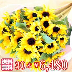 【送料無料】ヒマワリ 30本 の 花束誕生日 プレゼント 花束 ひまわり ギフト 結婚記念日 歓迎 送迎 向日葵 プロポーズ