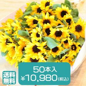 【送料無料】ヒマワリ 50本 の 花束誕生日 プレゼント 花束 ひまわり ギフト 結婚記念日 歓迎 送迎 向日葵 プロポーズ