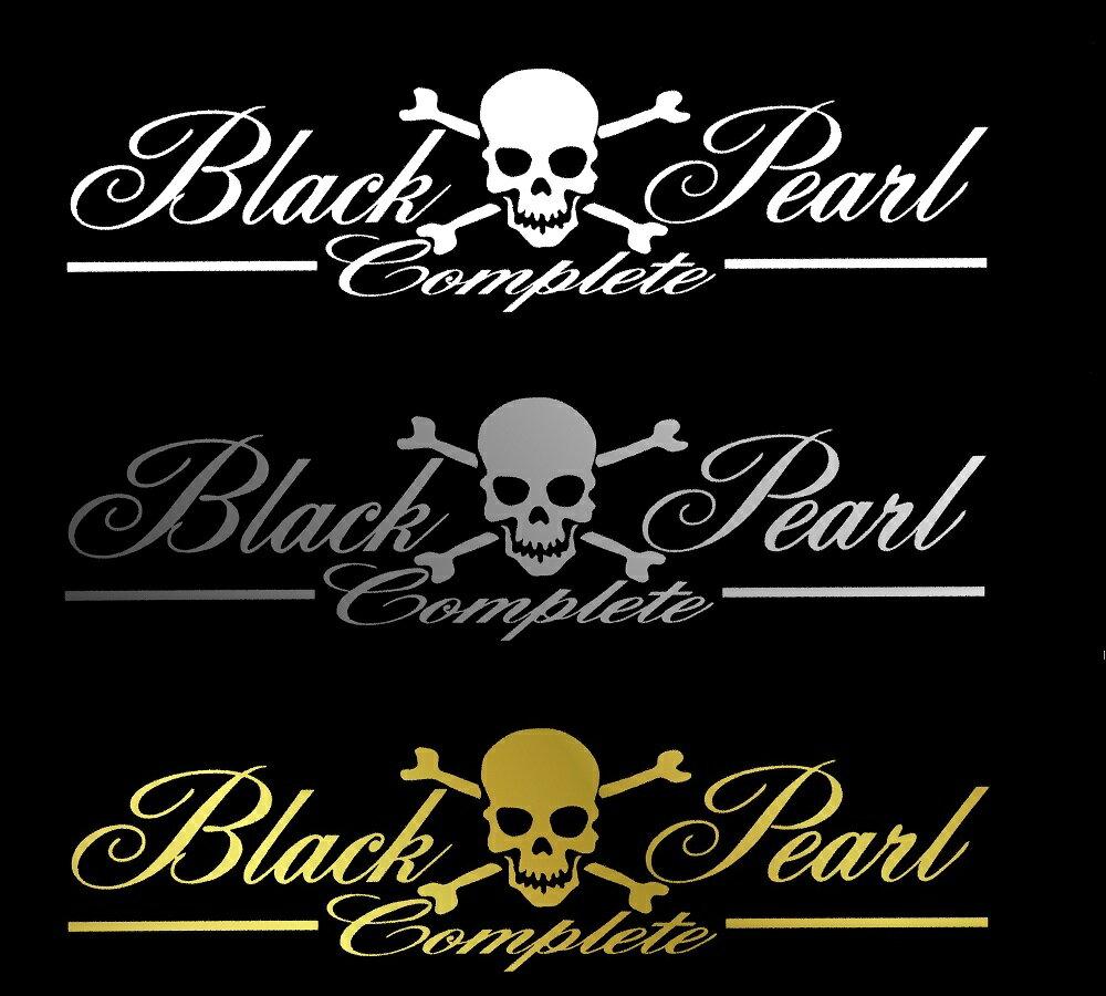 BLACK-PEARL〜complete〜筆記体Verロゴステッカー大