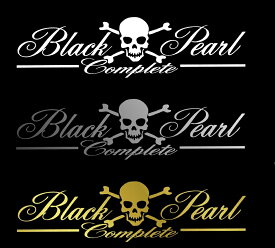 BLACK-PEARL〜complete〜筆記体Verロゴステッカー小