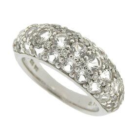 [返品OK] 美品 ポンテヴェキオ ダイヤモンド サファイヤリング 指輪 K18WG 750 D:0.10ct ホワイトゴールド 約10号 仕上済【中古】【送料無料】