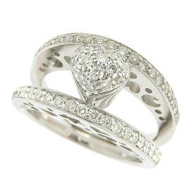 [返品OK] 美品 ポンテヴェキオ ハートダイヤモンドリング 指輪 K18WG 750 D:0.70ct ホワイトゴールド 約12号 仕上済【中古】【送料無料】