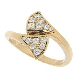 [返品OK] 美品 ブルガリ ディーヴァ ダイヤモンドリング 指輪 K18PG 750 ピンクゴールド #49 約9号 356495 ジュエリー【中古】【送料無料】