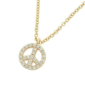 [返品OK] ティファニー メトロ ピースサイン ミニ ダイヤモンドネックレス K18PG 750 ピンクゴールド ブランドジュエリー【中古】【送料無料】