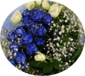【青いバラ】ブルーローズシルバーラメ ブルーローズバラ&ホワイトローズ